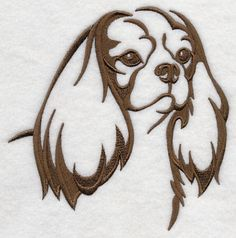 Items similar to Cavalier King Charles Spaniel Silhouette Embroidered Hand Towel on Etsy Cartoon Drawings, Animal Drawings, Cavalier King Charles Spaniel, Dog Quilts, Dog Silhouette, Silhouette Design, Spaniel Puppies, Machine Embroidery Designs, Embroidery Ideas