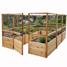 Features: -Pre-assembled Western red cedar raised garden bed panels with wire…