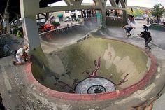 Burnside Skatepark Art - Portland OR. Skateboard Gear, Skateboard Design, Bike Design, Tactical Urbanism, Jump Park, Bmx Ramps, Skate Photos, The Sporting Life, Landscape Architecture