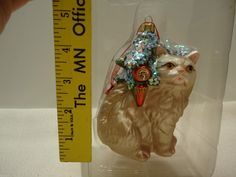 NEW BLOWN GLASS CAT CHRISTMAS ORNAMENTS LOT A25 Dept 56 | eBay Cat Christmas Ornaments, Christmas Cats, Cat Tree, Blown Glass, Lion Sculpture, Ebay, Art, Art Background, Scratching Post