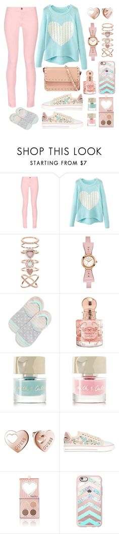 """""""Fall Pastel"""" by pink-quartz ❤ liked on Polyvore featuring Maison Kitsuné, Accessorize, GUESS, Happy Socks, Jessica Simpson, Smith & Cult, RED Valentino, Casetify, Valentino and pastel"""
