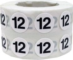 Tiny Number 12 Labels  0.5 Inch Round Number by TheDotSpotLane