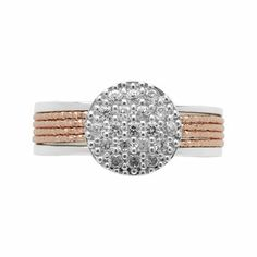 Women Rings, Celeste Pave Rose Gold Ring, Official Links of London
