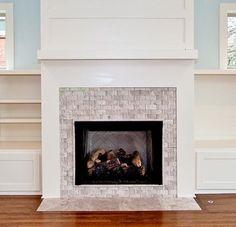 Fireplace Tile Ideas Surround Surrounds Tiles White