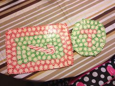 Peppermint serving trays or display plates - easy to make and match my melted peppermint ornaments