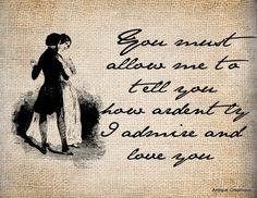 -graphic transfers $1-Antique Love Romance Jane Austen Darcy Elizabeth llustration Digital Download for Papercrafts, Transfer, Pillows, etc. No 1433 via Etsy