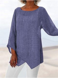 Newchic offers Blouses & Shirts at wholesale price, including white chiffon blouses, plaid shirts for women, long sleeve shirts. There must be a style of casual shirts you needed Page 3 4 Sleeve Shirt, Long Sleeve, Themed Outfits, Online Shopping For Women, Cotton Pants, Tunic Tops, Womens Fashion, Latest Fashion, Fashion Trends