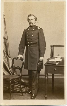 Once thought to be an early war photo of Lieutenant Colonel George Crockett Strong who served on the staffs of Generals George B. McClellan and Benjamin Butler. This photo was taken by Bendann Brothers in Baltimore, Maryland, probably sometime in 1862.