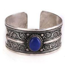 bracelete de pedra lápis lazuli