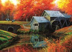 Autumn Lake 500 pc Jigsaw Puzzle by SUNSOUT INC