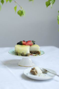 Cytrynowe ciasto z ryżu na zimno, piękne i pyszne.   qmam kasze