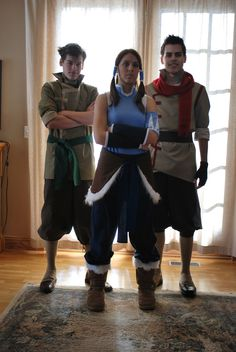 Awesome The Legend of Korra (tLoK?) cosplay by Confidenceman047 and siblings.  Also featured on Bryan Konietzko's tumbler! http://bryankonietzko.tumblr.com/