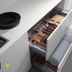 Modern Kitchen Cabinets - organization