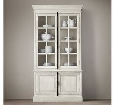 "French Casement Double-Door Sideboard & Hutch  49""W x 18½""D x 91""H; 280 lbs."