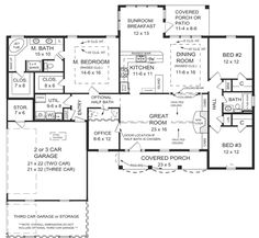 First Floor Plan of Cottage   Country   European   Traditional   House Plan 59023
