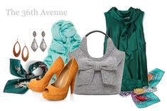 Good ideas for mixing and matching colors and putting your wardrobe together.