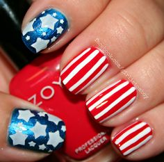 Stars & Stripes using Zoya Tart, America & Purity
