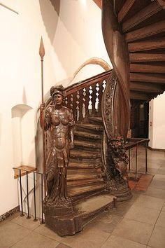 Stairs, ca 1700, Toruń (Thorn), Poland