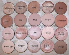 Mac Eyeshadows - Light Neutrals