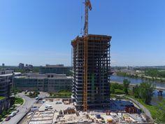 Progrès de la construction. Juin 2016 Willis Tower, Construction, Building, Travel, Viajes, Buildings, Destinations, Traveling, Trips