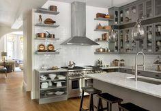 copper in mid century kitchen - Google Search