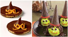 witch hat cookies (fudge striped cookies)