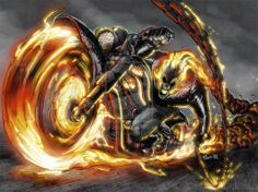 #GhostRider #fanart #motorcycle on #fire #LetsGetWordy #dwrenched