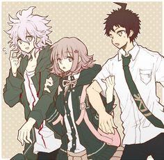 SDR2 TPG's Nagito, Hinata, and Chiaki