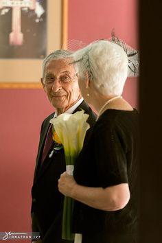 Adorable Senior Citizen Wedding Couple