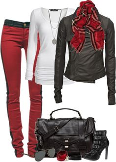 """Red and Black"" by partywithgatsby on Polyvore"