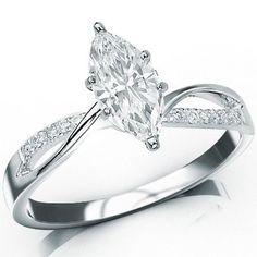 0.69 Carat GIA Certified Marquise Cut / Shape 14K White Gold Elegant Twisting Split Shank Diamond Engagement Ring ( E Color , VS2 Clarity ) Chandni Jewels,http://www.amazon.com/dp/B00BRMSD40/ref=cm_sw_r_pi_dp_hsrdsb08ZWFYKX8S