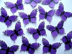 15 PURPLE MONARCH Edible Decorative Wafer Paper Butterflies © 2 Large Size >> Once in a lifetime offer : Baking desserts tools