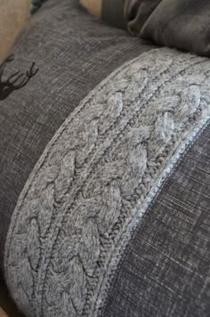 wish I could knit.and sew.crochet and tweed, love : wish I could knit.and sew.crochet and tweed, love Sewing Pillows, Diy Pillows, Decorative Pillows, Cushions, Throw Pillows, Sweater Pillow, Knit Pillow, Sewing Crafts, Sewing Projects