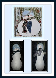 Linda Walsh Originals Dolls and Crafts Blog: Linda's How-Do-I Series Free E-Book - How To Make 3 Adorable Snowman Ornaments