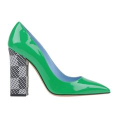 20 Pairs of Jaw-Droppingly Over-the-Top Shoes -- Emerald-green leather is an out-of-the-box way to break up the monotony of neutrals — striking, yet safe for work.  Studio Pollini Pumps