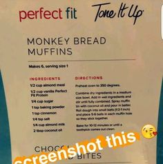 Tone It Up Monkey Bread Muffins. Bake for ~ 20 inutes