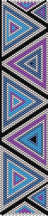 TrinityDj...beautiful peyote pattern bracelet. Lovely colour combinations.