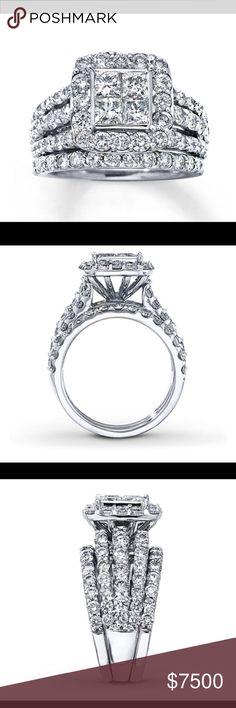 4 Carat 14k Engagement Wedding Rings Fashion Ring