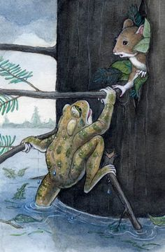 Frog & Mouse by Teri Weidner