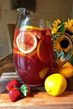 """Summer Rosé Sangria is a perfect choice for happy hour on one of our warm summer evenings. It's fun, light and lively and shouts """"it's summer, drink me""""! via @gritspinecones"""