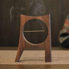 Weis Moon Aroma Wood Incense Burner Holder for Cones Sticks | eBay