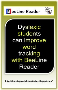 Learning Specialist and Teacher Materials - Good Sensory Learning: BeeLine Reader: Dyslexia and ADHD Technology Improves Word Tracking Abilities Like this.