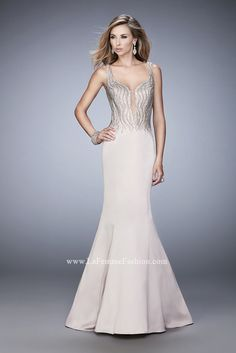 You are sure to feel glamorous and beautiful in La Femme Style #22365 available at Whatchamacallit Boutique