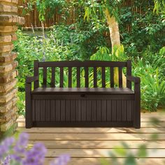Have to have it. Keter 213126 Eden Bench Box - $168.98 @hayneedle