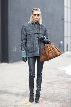 Sunnies in the snow! Off-duty style at NYFW.