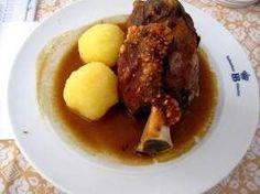 Schweinshaxe - Bavarian pork knuckles. Love this recipe! Best Chrissy meal ever!