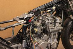 Seven Fifty cafe-racer. Tank mount, electrical components, wiring, etc . Part – Gazzz garage Cafe Racer Tank, Cb 750 Seven Fifty, Cb750, Electrical Components, Widowmaker, Honda Cb, Golf Bags, Garage, Wire