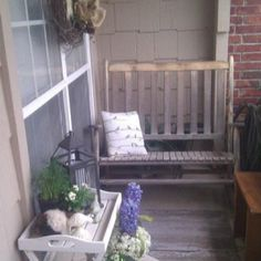 My spring front porch