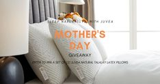 Moms are warriors. Exhausted warriors. And no one deserves a more restful night's sleep. Enter our Mother's Day giveaway now for a chance to win a set of (2) Juvea Natural Talalay Latex pillows.