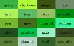 The Color Thesaurus: Green